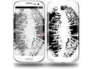 Big Kiss Black on White - Decal Style Skin (fits Samsung Galaxy S III S3)