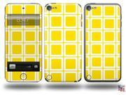 Squared Yellow Decal Style Vinyl Skin - fits Apple iPod Touch 5G (IPOD NOT INCLUDED)