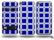 Squared Royal Blue Decal Style Vinyl Skin - fits Apple iPod Touch 5G (IPOD NOT INCLUDED)