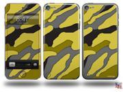 Camouflage Yellow Decal Style Vinyl Skin - fits Apple iPod Touch 5G (IPOD NOT INCLUDED)