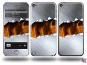 Ripped Metal Fire Decal Style Vinyl Skin - fits Apple iPod Touch 5G (IPOD NOT INCLUDED)