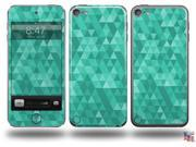 Triangle Mosaic Seafoam Green Decal Style Vinyl Skin - fits Apple iPod Touch 5G (IPOD NOT INCLUDED)