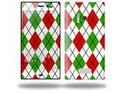 Argyle Red and Green - Decal Style Skin (fits Nokia Lumia 928)