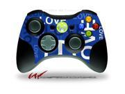 XBOX 360 Wireless Controller Decal Style Skin - Love and Peace Blue - CONTROLLER NOT INCLUDED