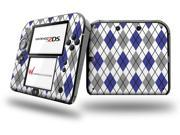 Argyle Blue and Gray - Decal Style Vinyl Skin fits Nintendo 2DS