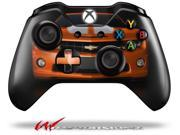 2010 Chevy Camaro Orange - White Stripes on Black - Decal Style Skin fits Microsoft XBOX One Wireless Controller - CONTROLLER NOT INCLUDED