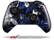 Twisted Garden Blue and White - Decal Style Skin fits Microsoft XBOX One Wireless Controller - CONTROLLER NOT INCLUDED