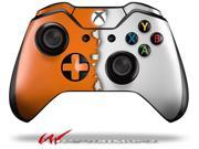 Ripped Colors Orange White - Decal Style Skin fits Microsoft XBOX One Wireless Controller - CONTROLLER NOT INCLUDED