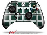 Squared Hunter Green - Decal Style Skin fits Microsoft XBOX One Wireless Controller - CONTROLLER NOT INCLUDED