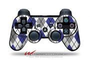 Sony PS3 Controller Decal Style Skin - Argyle Blue and Gray (CONTROLLER SOLD SEPARATELY)