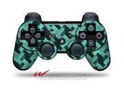 Sony PS3 Controller Decal Style Skin - Retro Houndstooth Seafoam Green (CONTROLLER SOLD SEPARATELY)