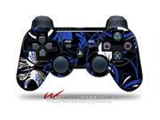 Sony PS3 Controller Decal Style Skin - Twisted Garden Blue and White (CONTROLLER SOLD SEPARATELY)