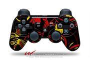 Sony PS3 Controller Decal Style Skin - Twisted Garden Red and Yellow (CONTROLLER SOLD SEPARATELY)
