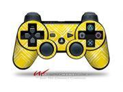 Sony PS3 Controller Decal Style Skin - Wavey Yellow (CONTROLLER SOLD SEPARATELY)