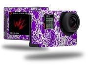 Scattered Skulls Purple - Decal Style Skin fits GoPro Hero 4 Silver Camera (GOPRO SOLD SEPARATELY)