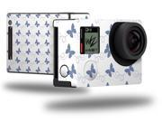 Pastel Butterflies Blue on White - Decal Style Skin fits GoPro Hero 4 Black Camera (GOPRO SOLD SEPARATELY)