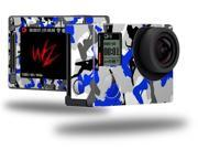 Sexy Girl Silhouette Camo Blue - Decal Style Skin fits GoPro Hero 4 Silver Camera (GOPRO SOLD SEPARATELY)