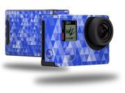Triangle Mosaic Blue - Decal Style Skin fits GoPro Hero 4 Black Camera (GOPRO SOLD SEPARATELY)