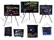 LED Menu Writing Baord Menu Sign Neon Beauty Salon Signs Portable Business Signs Eraser Board