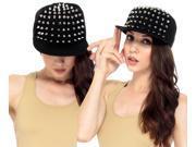 Adjustable Baseball Cap Men Women Spike Studs Rivet Cap Hip Hop Visor Hats