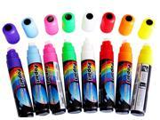 15mm 8 Colors Popart Fluorescent Liquid Chalk Marker Pen LED Writing Board