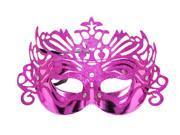 New Shiny Glittery Powder Trim Half Face Eye Mask Costume Ball Party,Rose
