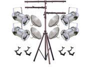4 Silver PAR CAN 64 1000w PAR64 VNSP O-Clamps Stand