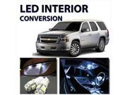 Bright WHITE 12pc LED Lights Interior Package Kit for Chevy Tahoe 2007-2012