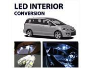 Bright WHITE LED Lights Interior 9pc Package for Mazda 5 2006-2010