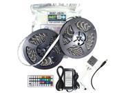 Genssi 10M SMD 5050 RGB Waterproof 600 LED Strip 7 Color changing with 44 Key Remote Control & Power Supply 12V