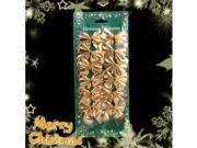 12 Pcs Mini Satin 6cm Christmas Gold Ribbon Bows Ornaments for Chritmas Xmas Decoration #7356#