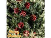 9 x Red Pine Cone Cones / Pinecones for Christmas Xmas Tree Decorations Ornament #7354#