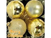 Christmas Tree Decorations / Ornaments, Pack of 4 Gold Mixed Decorated Glittery #7350#