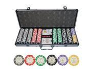 500pc Monte Carlo *Poker Room* Clay Poker Chip Set w/ Aluminum Case #10400#