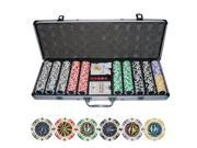 500pc Poker Laser Clay Poker Chip Set w/ Aluminum Case #10412#
