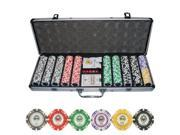 500pc Kings Casino Clay Poker Chip Set w/ Aluminum Case #10415#