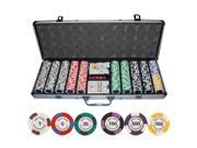 500 Matte Kings Casino Las Vegas Nevada Clay Poker Chip Set