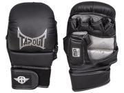 TapouT Elite Grappling MMA Training Gloves Open Finger Small Medium Black UFC jiu jitsu
