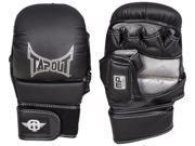 TapouT Elite Grappling MMA Training Gloves Open Finger Small Medium Black UFC jiu jitsu