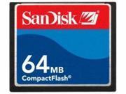 SanDisk 64MB Compact Flash (CF) Flash Card Model SDCFB-64-A10