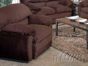 Bella Brown Microfiber Chair by Acme Furniture
