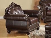 Top Gain Old World Leather Chair by Acme Furniture