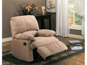 Light Brown Microfiber Recliner by Coaster Furniture