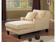 Microfiber Chaise Lounger by Coaster Furniture