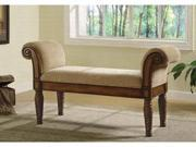 Accent Bench w/ Rolled Arms by Coaster Furniture