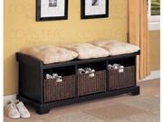 Black Storage Bench by Coaster Furniture