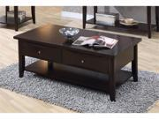 Coffee Table in Cappuccino by Coaster Furniture