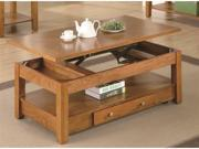 Coffee Lift Top Table in Oak Finish by Coaster