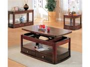 Distressed Cherry Finish 3 Piece Occasional Table Set by Coaster Furniture