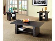 3 Piece Occasional Table Set in Black Finish by Coaster Furniture
